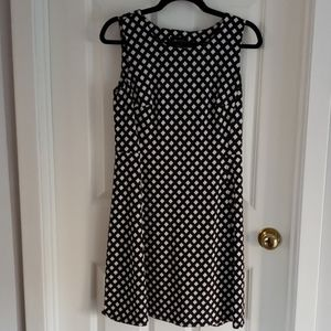 Black & White fit and flare shift dress